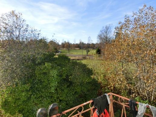 Utsikten idag från balkongen.